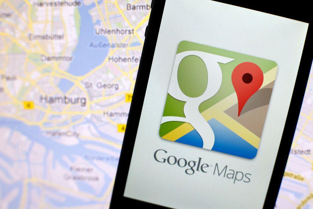 Google maps app on iPhone.