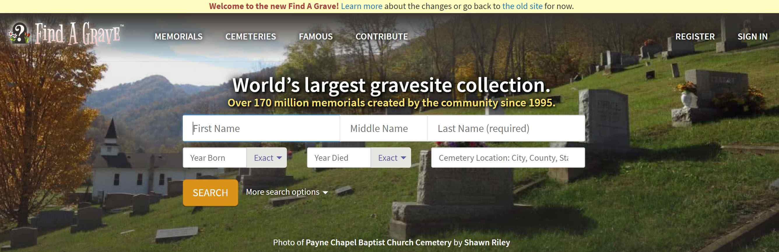 find grave site records using free online resources