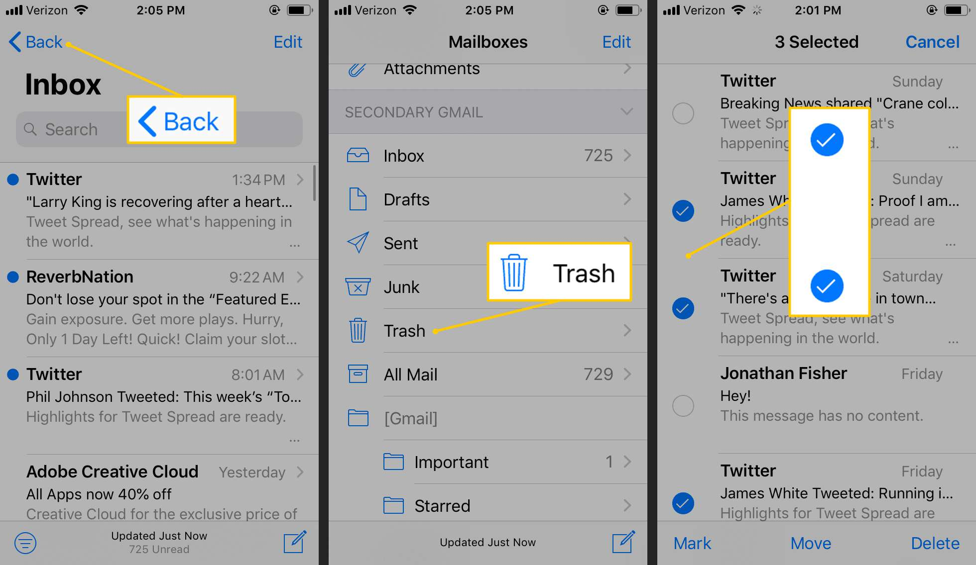 How to Delete Deleted Emails From Your iPhone