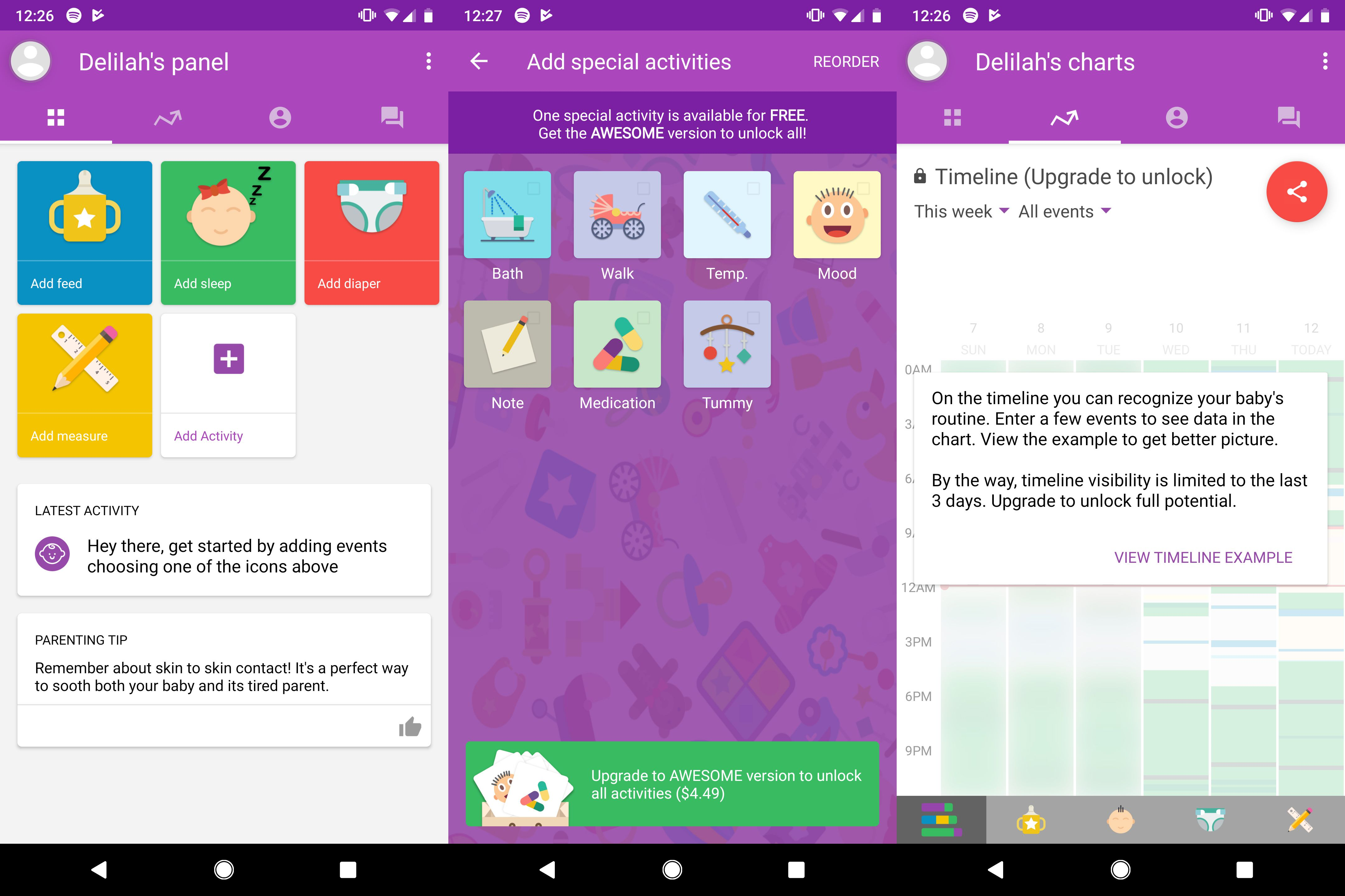 Baby Manager app for new dads keeps track of baby details