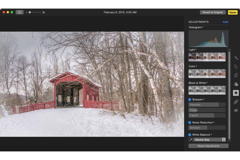 Snow covered bridge in Vermont