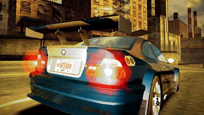 Race car with NSFMW license plate fromNeed For Speed: Most Wanted