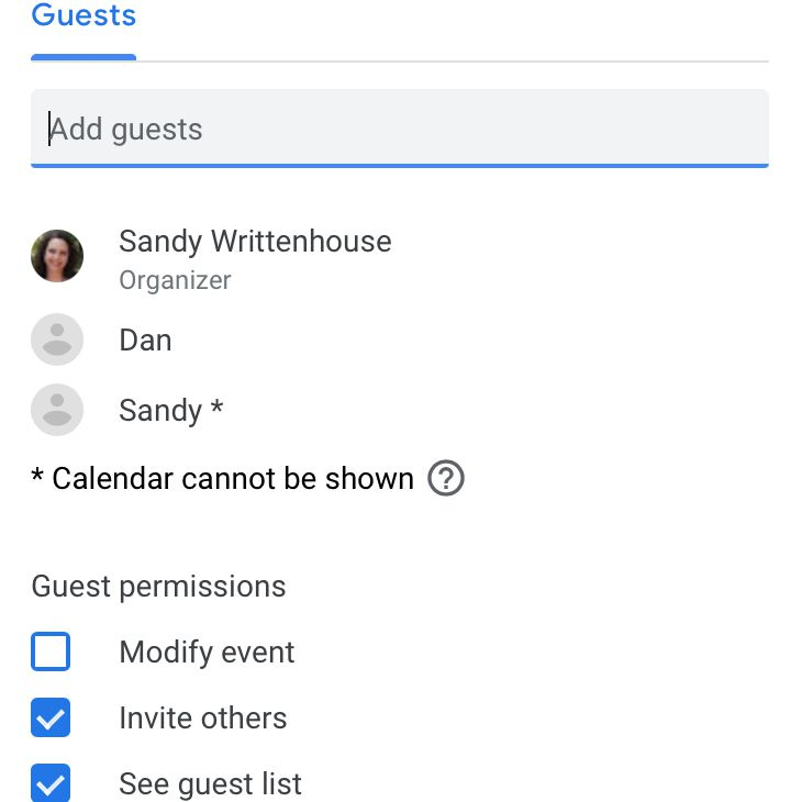 Add your meeting guests