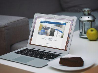 Mail.com website on MacBook Air