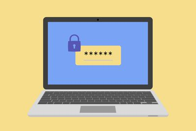 Password on laptop