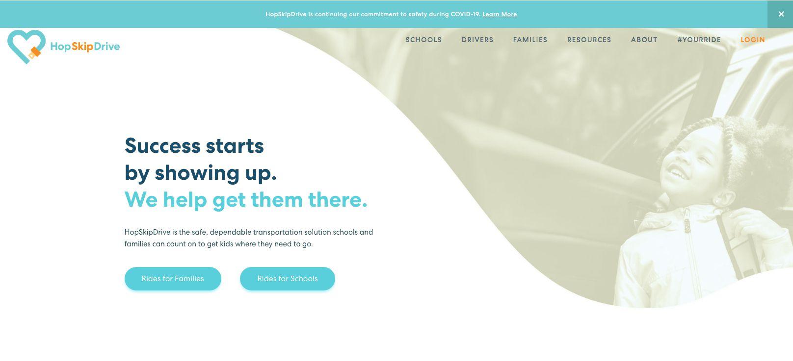 HopSkipDrive ride-hailing app