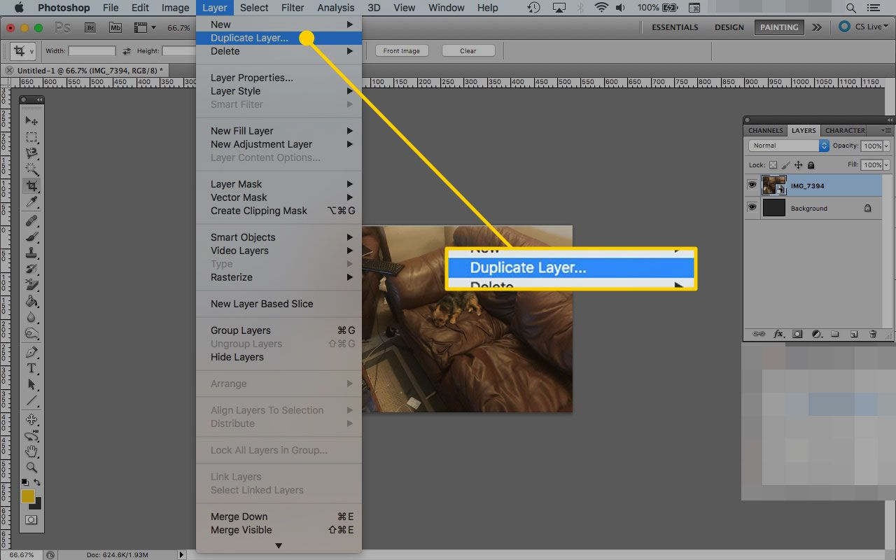 Rasterizing Layer Effects in Photoshop