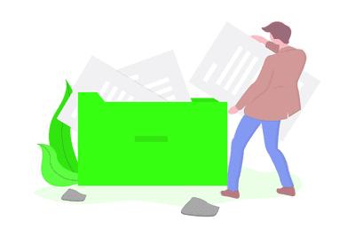 Filing system illustration