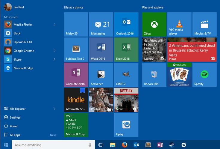 Get that Windows 10 Start Menu Organized