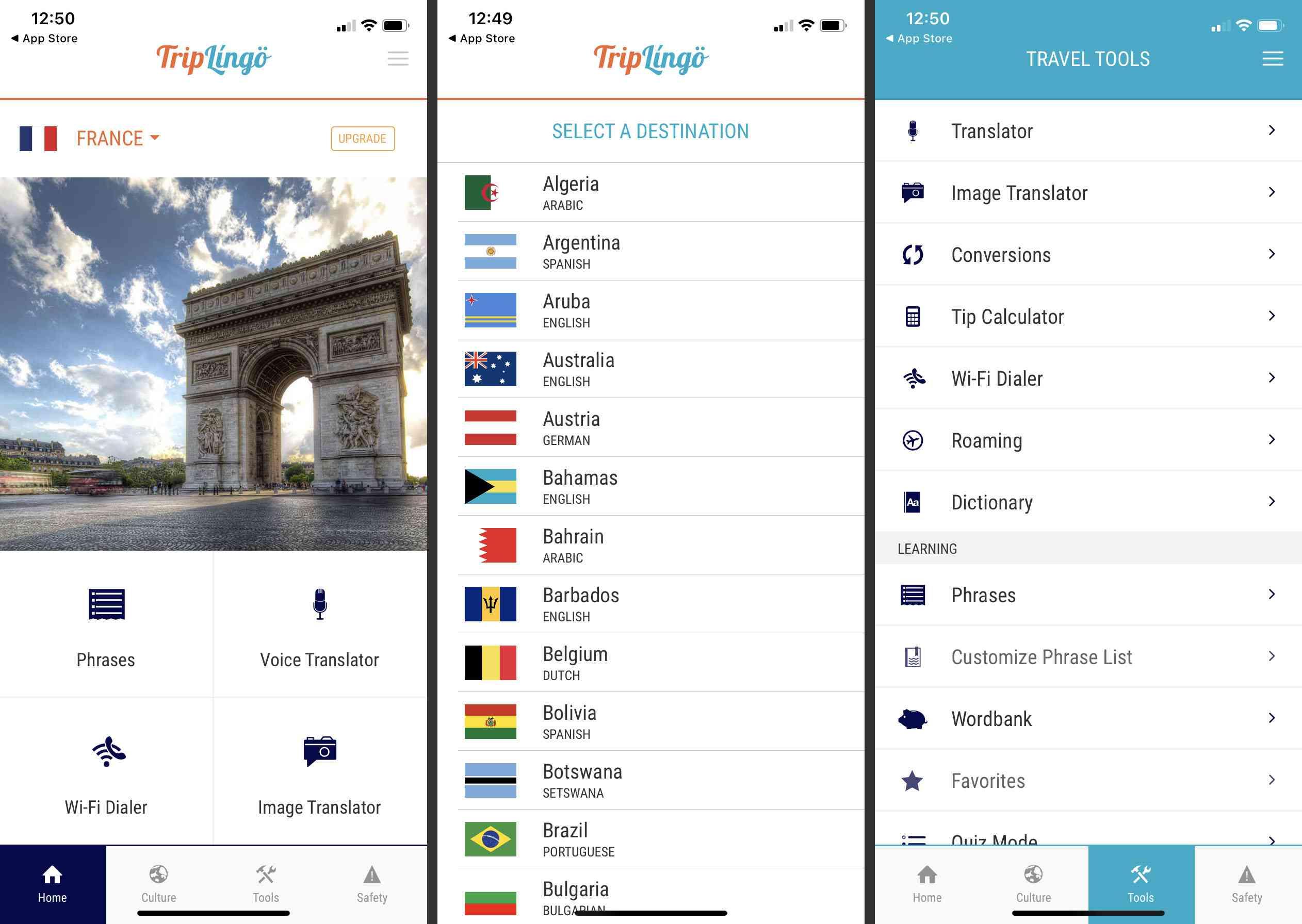 Triplingo iOS app