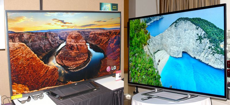 LG 84LM9600 and Toshiba Prototype 4K UltraHD TVs at CES 2013