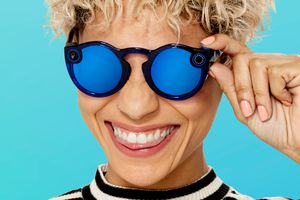 Blue Snapchat Spectacles