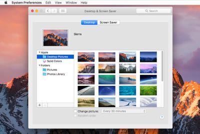 Desktop & Screensaver Preference Pane