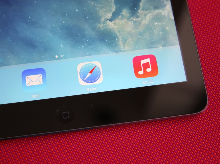 A close up of the iOS Mail, Safari, and Music apps