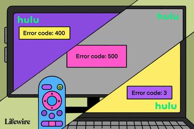 Illustration showing various Hulu error codes
