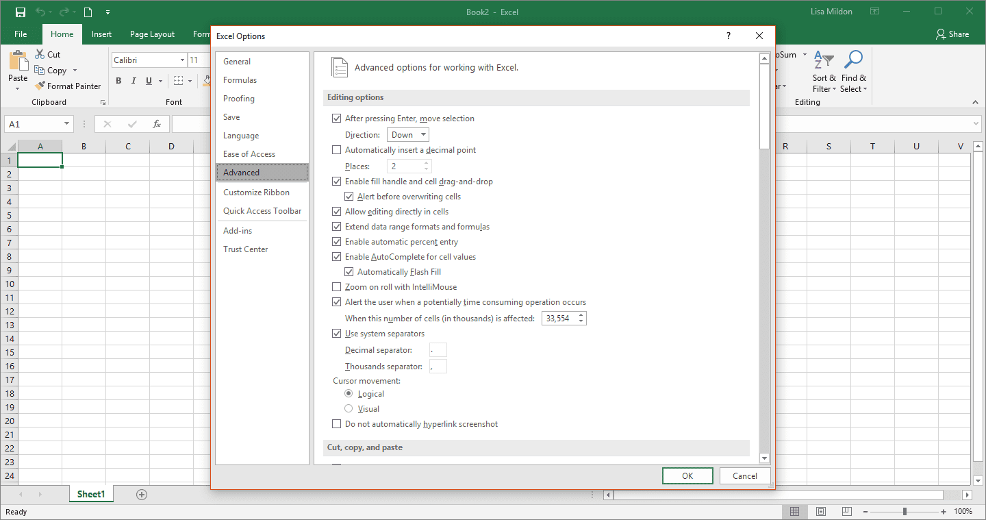 How to Turn AutoComplete On/Off in Excel