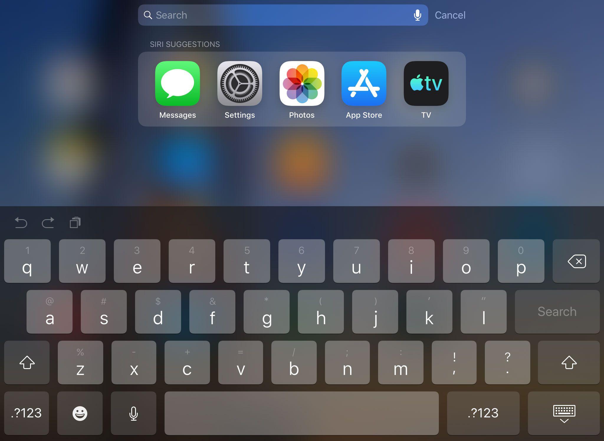 Spotlight Search on iPad