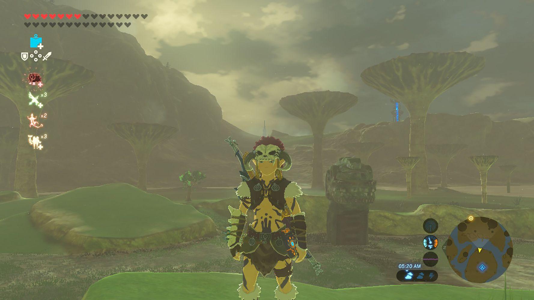 Screenshot of the Barbarian Armor in Zelda: BOTW