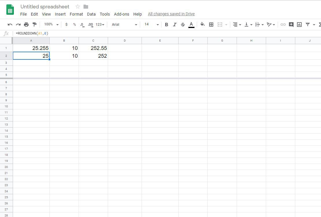 Rounding Numbers in Google Spreadsheets