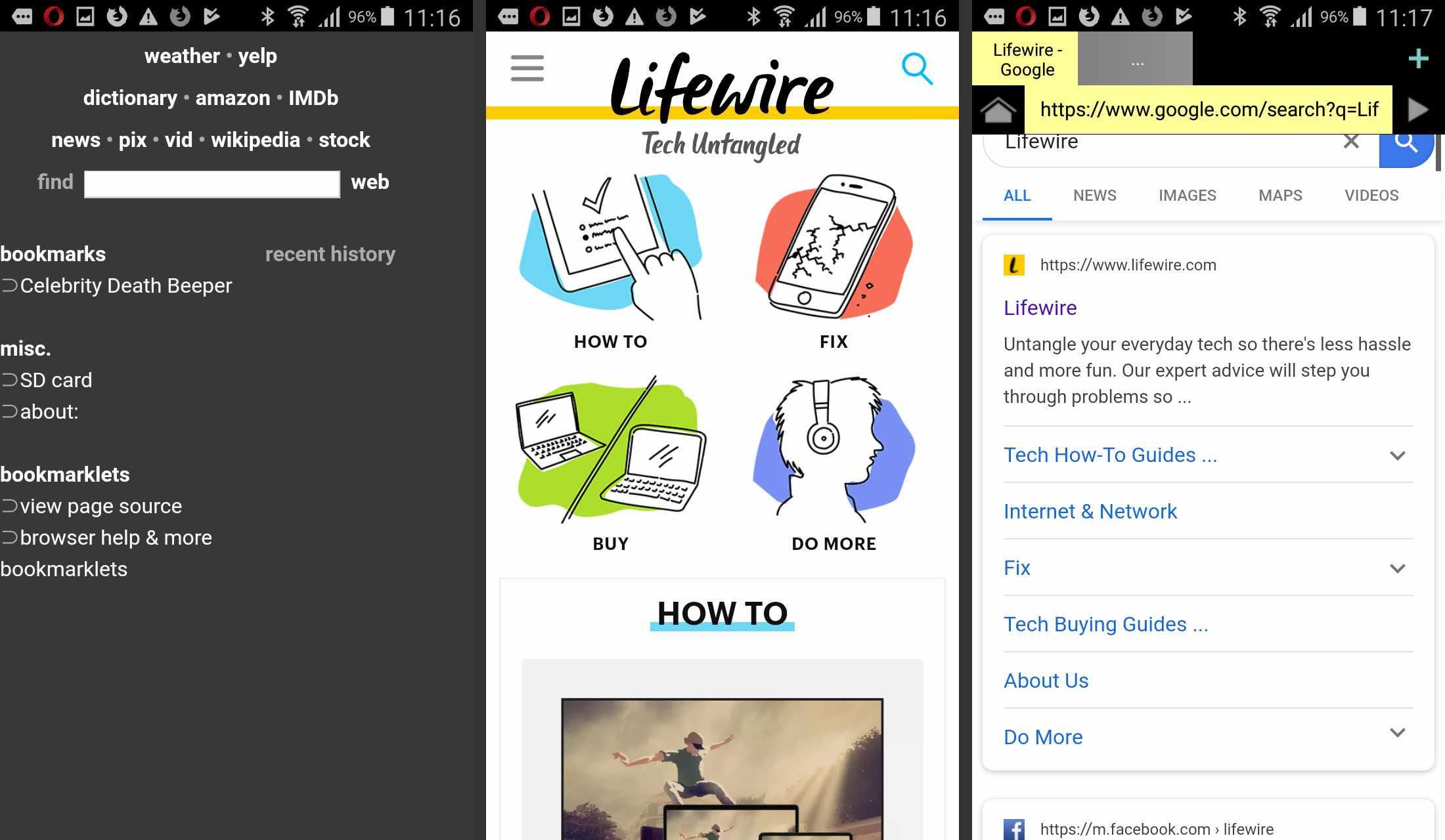 Naked Browser app screenshots
