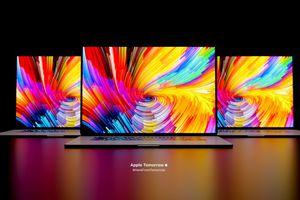 A conceptual mockup of the Apple M1X MacBook Pro.