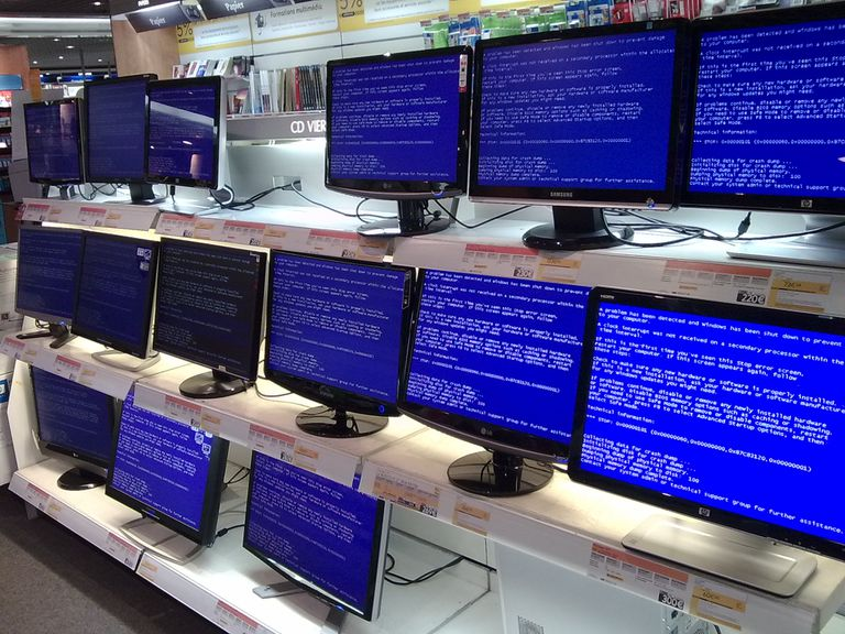 computer error on multiple computers at a store