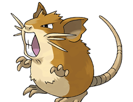 Raticate - Ken Sugimori's Official Artwork