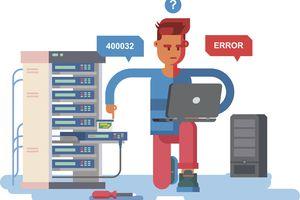 Illustration representing a specific computer error