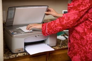 Office assistant using flat bed scanner