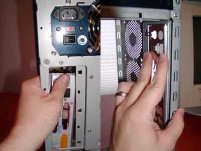 Removing and installing an ATX plate in a computer case