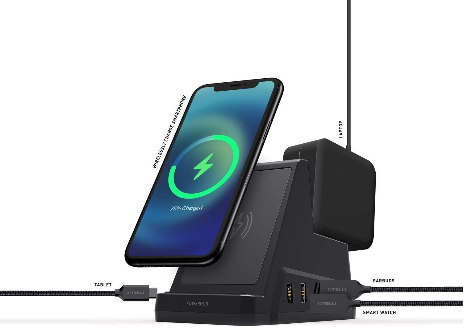 The Intelli Powerhub can charge your devices.