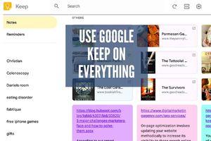 Google Keep saying 'Use Google Keep on Everything'