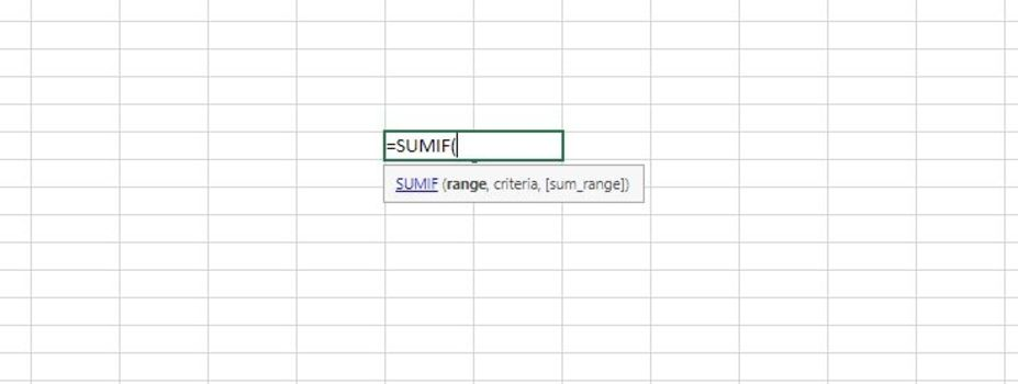 The SUMIFS Function's Syntax