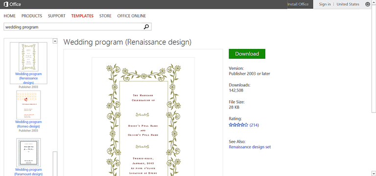 Make Wedding Planning Easier Using Microsoft Office - Wedding program template publisher