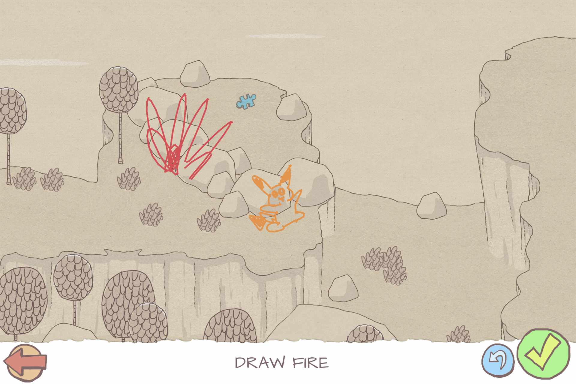 Draw A Stickman Windows 10 drawing video game on Surface Pro.