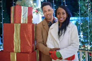 Holly Robinson Peete and Antonio Cayonne in Christmas in Evergreen: Bells Are Ringing
