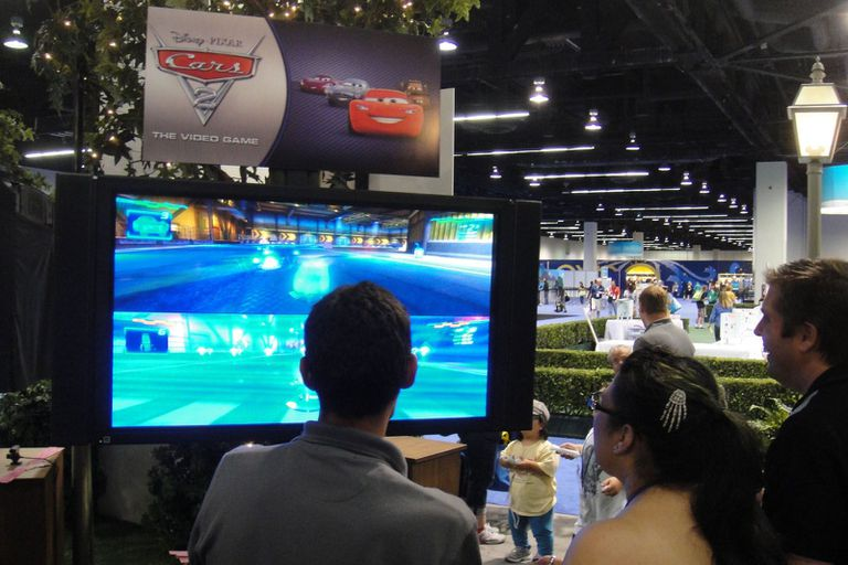 D23 Expo 2011 people playing Cars video game