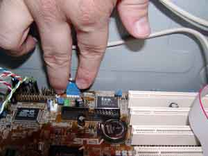 Attaching port connectors to the motherboard