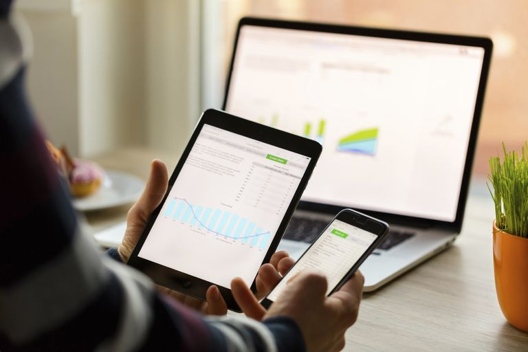 using app on mobile, tablet, and desktop