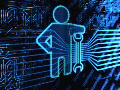 Illustration of tech service