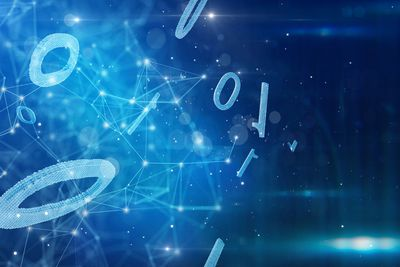 Binary number code with network.