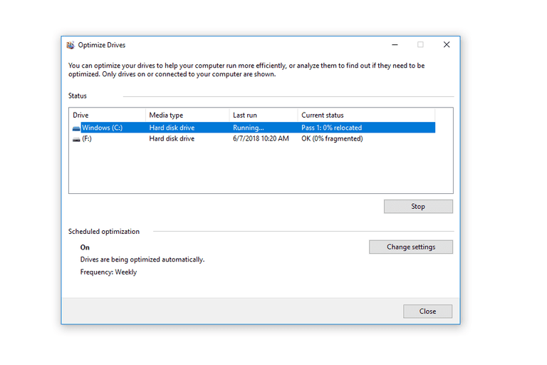 how to defrag my hard drive on windows 10