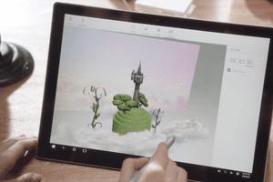 Paint 3D in Windows 10 Creators Update.