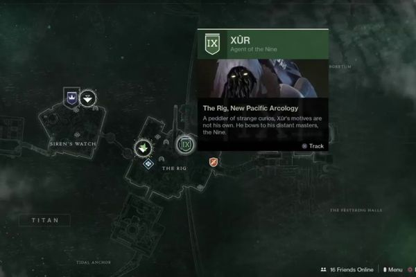 This week you'll find Xur on Titan at the Rig.
