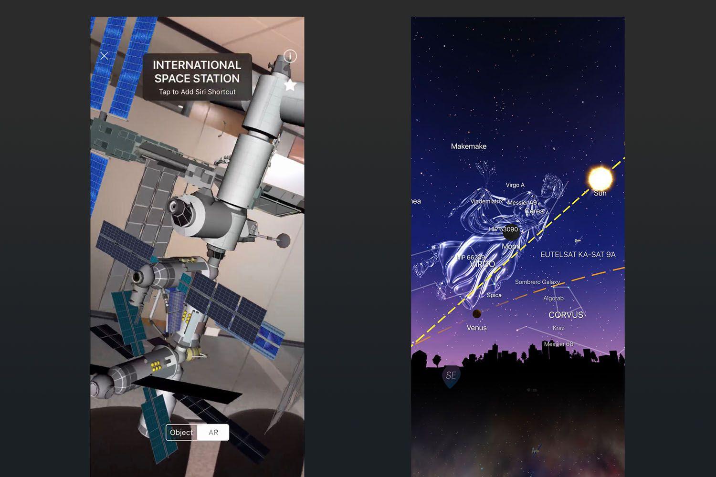Screenshot of Night Sky app