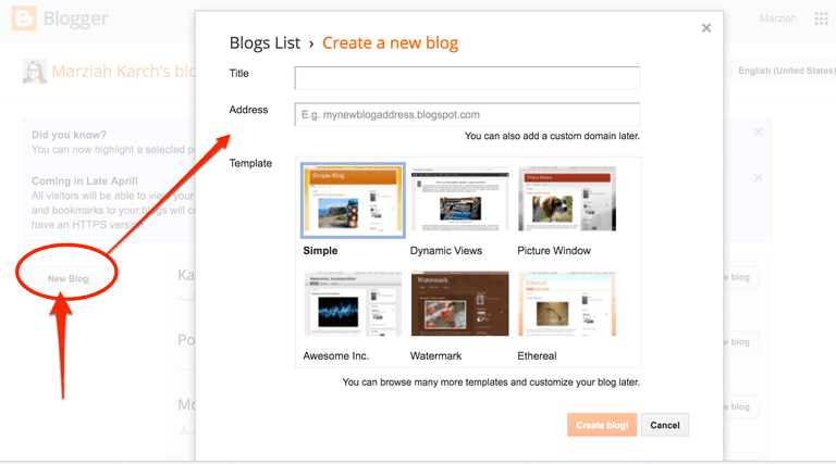 adsense to blogger   setting up a blogger account takes three