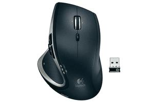 Black Logitech MX Performance Wireless Laser Mouse