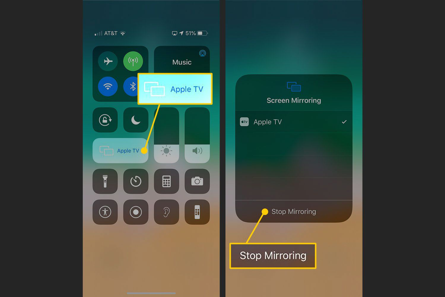 Stop Mirroring on an iPhone