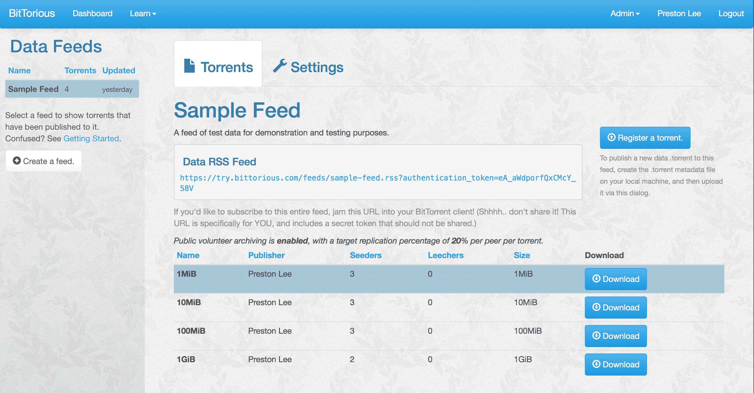 bittorrent tracker github