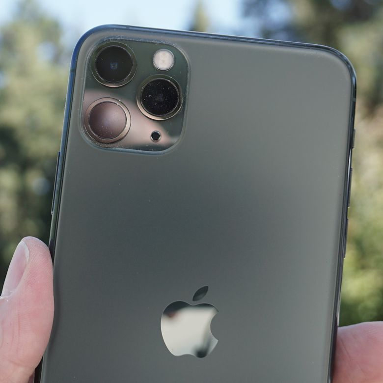 "The three-lens ""camera square"" on Apple iPhone 11 Pro"